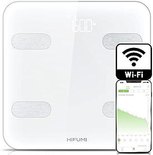 HIFUMI 体重計・体組成計 Wi-Fi/Bluetooth接続 スマホ連動 乗るだけで電源ON 測定前に毎回アプリの起動不要 自動認識機能付 iPhone/Android アプリ対応