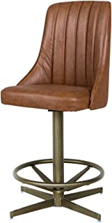AW Furniture Mid Century Modern Swivel Bar Stool