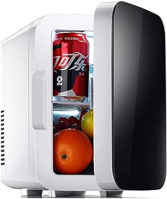 6L Mini Nevera Negro, Portátil Individual Refrigeracion y Calefacción Pequeño Frigorífico Adecuado para Coche Dormitorios Familia Oficina-Negro