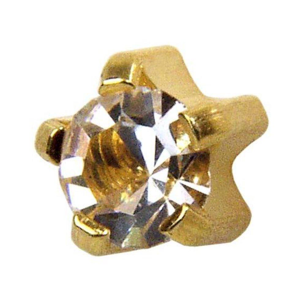 Studex Popular products Cubic Zirconia CZ Mini 2mm Setting Boston Mall Ear Claw P Gold Plated