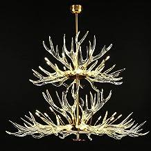 Transparent Acrylic Antler Chandelier Lighting Retro Deer Horn Ceiling Chandelier Lamps Home Decoration Indoor Lighting Fi...