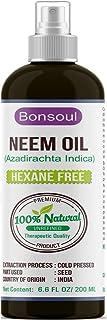 BONSOUL 100% Pure Cold Pressed Unrefined Wild Neem Oil (200 ML)