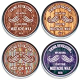 Best Mustache Waxes - Mustache Wax 4 Variety Pack - Beard Review