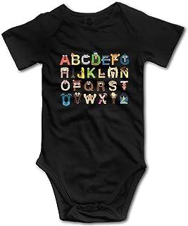 KNKN Love Cows Strampler Unisex Baby Bodysuit Niedliche Jumpsuit T-Shirt für Baby Schwarz