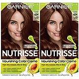 Garnier Hair Color Nutrisse Nourishing Creme, 434 Deep Chestnut Brown (Chocolate Chestnut), 2 Count