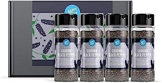 Amazon Brand - Happy Belly - zwarte peper, gemalen 4x50g