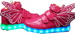 Wings Led Light Up Shoes 11 Colors Flashing Rechargeable Sneakers Ankel Boots for Kids Boys Girls