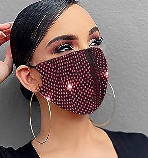 Ushiny - Maschera luccicante in cristallo per feste in maschera, per Halloween, genie di Halloween, gioiello per donne e r...