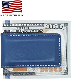 Genuine Leather Money Clips - American Factory Direct - Strong Shielded Magnets - Made in USA by Real Leather Creations