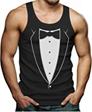 Printed Tuxedo with Bowtie Suit Funny Singlet