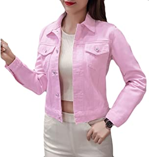 Tootless-Women Casual Mulit Color Short Cardigan Coat Individuality Denim Jacket