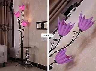 BXZ Lampadaire simple chinois moderne Lampe de table basse Lampe de table verticale,Violet