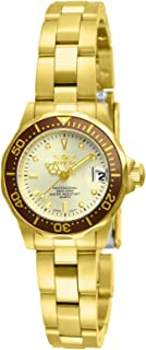 Women's 12527 Pro-Diver 18k Gold Ion-Plated Stainless...