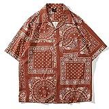 Beastle Camisa Masculina Estilo de Vacaciones Hawaiano Europeo y Americano Moda Suelta Todo-fósforo...