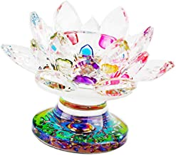 F Fityle Crystal Glass Lotus Candle Holders Creative Decoration for Home Decoration Votive Activity Tealight Holders Weddi...