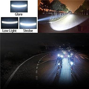 Azaleaball 220° Wide Beam LED Headlam, Hi-Beam Work Light Headband, Portable Broadbeam Led Headlamp Suitable for Outdoor Work