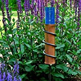 Park Seed Copper and Polycarbonate Floating Rain Gauge for Garden, World's Coolest Rain Gauge, 24-Inch Steel Stake