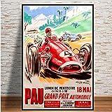 yhnjikl Grand Prix Super Rennwagen Retro Monaco Rennen 64.