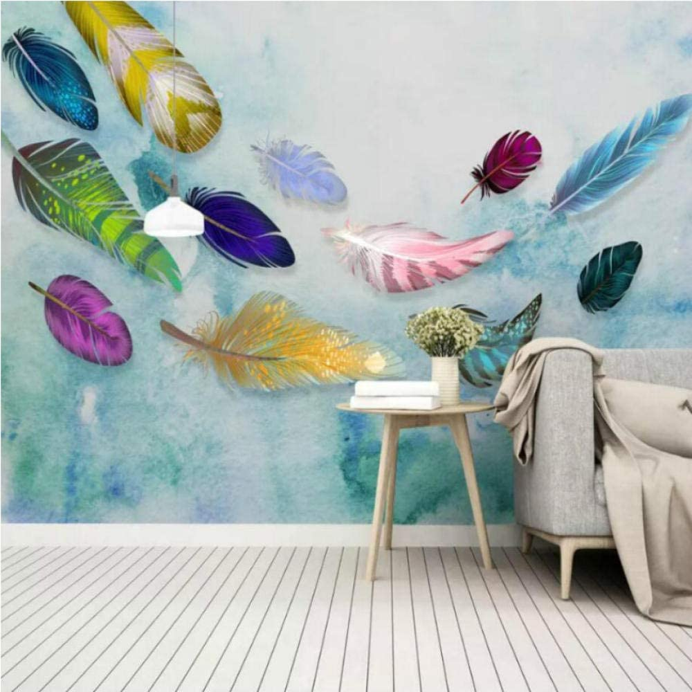 Pbldb Colorful Hand Drawn Feathers Deluxe Wal Phoenix Mall Wallpapers for Texture 3D