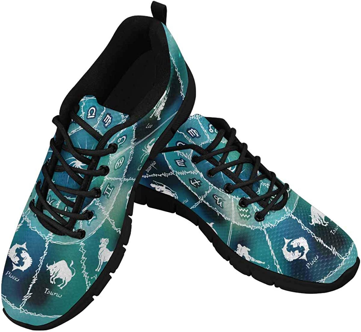InterestPrint Horoscope Circle Zodiac Women's New arrival Signs Shoe Walking Don't miss the campaign