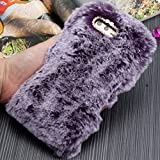 Smartisan Pro2S Art Case, Handmade Fluffy Villi Wool Cute Ball Tail Winter Warm Soft Cover, TAITOU Beautiful Special Full Wool Design Light Slim Protection Phone Case For Smartisan Pro 2S Purple