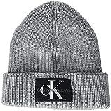 Calvin Klein Monogram Beanie WL Boina, Gris (marbel), Taille Unique para Hombre