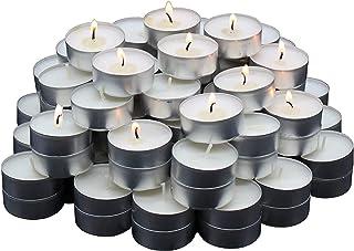 comprar comparacion REGALOS ESTRELLA AZUL Velas Blancas, Velas de té sin Aroma, 38 mm, parafina, duración de combustión: 4 Horas (50 Unidades)