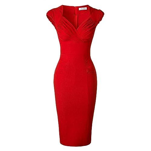93ea4245e1 Vintage Red Pencil Dresses: Amazon.com