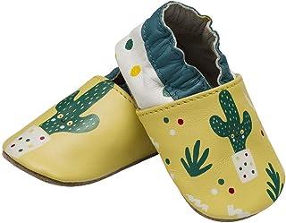 Zapatos de bebé con suela de ante antideslizantes, botines para bebés, niñas y niños de 0-24 meses, cuero suave, zapatilla...