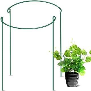 LEOBRO Garden Support Stake, 2-Pack Half Round Metal Garden Plant Supports, Garden Plant Support Ring, Border Support, Plant Support Ring Cage for Rose Hydrangea Vine (9.4