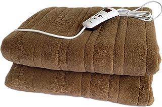 Dadiao Manta calefactora, 4 velocidades, temporizado, Lavable a máquina, Manta calefactora eléctrica para Cama, sofá,160x130cm
