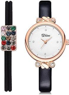 wall clock, Women's Wrist Watches Ladies Series Girls Watch Female for Women Women's Watch with Hair Ring pu Small Fresh L...