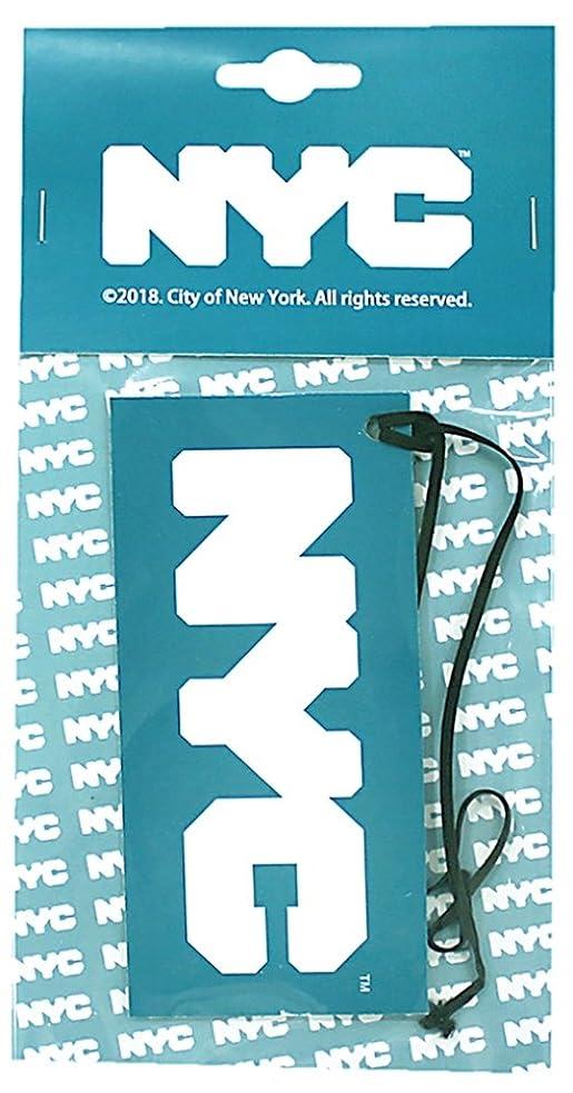 今日工業化するコールドNYC エアーフレッシュナー 吊り下げ ロゴ フルーティーの香り OA-NYC-1-2