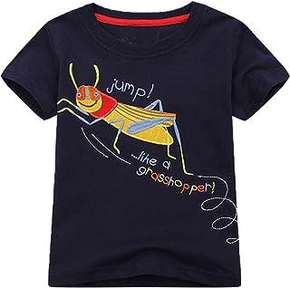 Mengmeng Little Boys Summer Shirts Tee Short Sleeve T-Shirt Cotton Tops