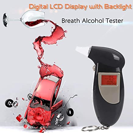 Hemiza Digital Breath Alcohol Tester and Analyzer with LCD Display and Back Light