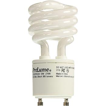 BOX 10 Halco 13W T2 Spiral 3500K E12 ProLume CFL13//35//T2//E12 13w 120v CFL White