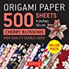 Origami Paper 500 Sheets Cherry Blossoms: High-quality Double-Sided, 4 inches 10 cm
