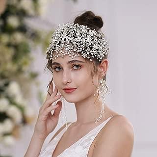 ZHENM Silver Wedding Headband for Brides Bridal Headpiece Hair Vine Rhinestone Hair Accessories for Women