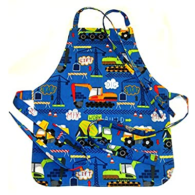 Handmade Toddler/Boy Apron, by DesignsByDowning (Royal Construction Trucks)