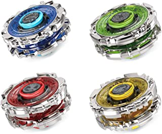 Innoo Tech Battling Top Burst | Double Attack Circle Metal Gyro | 4pcs Evolution Combination 4D Series | 2 Launcher Set | Best Gift for Children Kids Toys, Blue Red Green Yellow