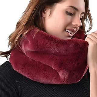 Women Faux Fur Infinity Scarf Soft Winter Warm Neck Warmer Scarfs