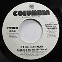PAULI CARMAN 45 RPM DIAL MY NUMBER (VOCAL) / DIAL MY NUMBER (INSTRUMENTAL)