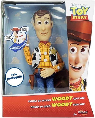 diseño simple y generoso Toy Story - Figura de Woody, articulada con voz voz voz en portugués (Bizak 61234074)  tomamos a los clientes como nuestro dios