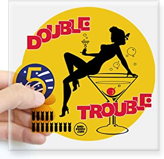 CafePress Double Trouble Pin Up Nose Square Sticker 3