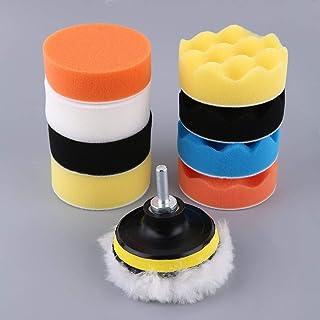 Kongqiabona Professional 3/4/5/6/7 Inch 11pcs / Set Juego de tampones para pulir automóviles para automóviles M14 Limpieza de vehículos Juego de Ruedas de esponjas polacas (M10 4 Pulgadas)