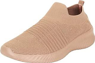 Cambridge Select Women's Low Top Lightweight Knit Sock Glove Slip-On Fashion Sneaker