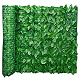 Artificiale Siepe Finta Foglia Edera, Siepe Artificiale Ivy Leaf Garden Fence Roll Green Wall Balcony Privacy Screening, Espandibile Trellis Fence Roll con Ivy Leaves UV Fade Protected Giardinaggio