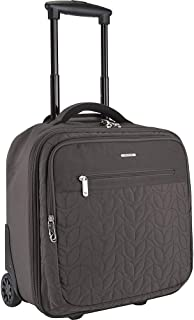 Travelon: Quilted Anti-Theft Wheeled Underseat Carry-On Bag with RFID Protection - Smoke