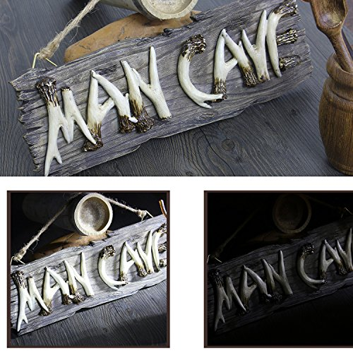 Liberty Imports Man Cave Hanging Wall Sign Decorative Mancave Wooden Novelty Decor