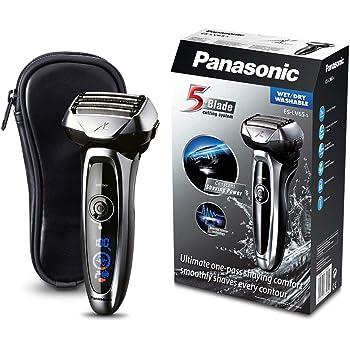 Panasonic ES-LV65 Le rasoir électrique pour homme doté de 5 lames, d'une tête multidirectionnelle , Wet/Dry, Capteurs de barbe, noir